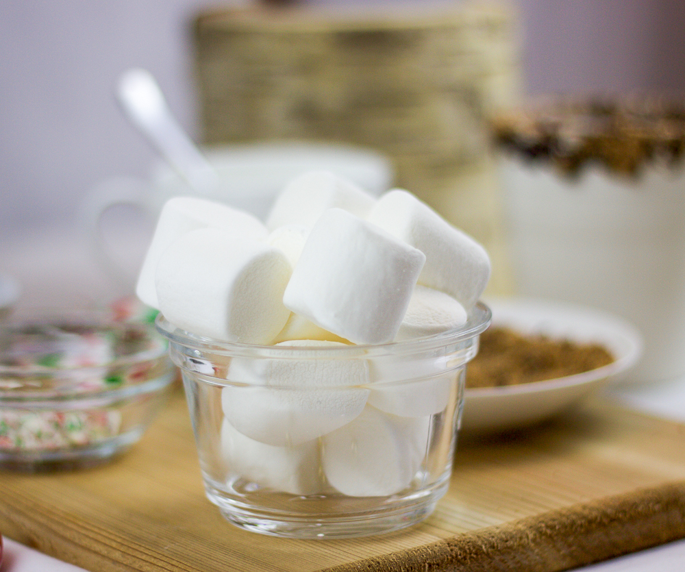 Add jumbo marshmallows to your hot chocolate