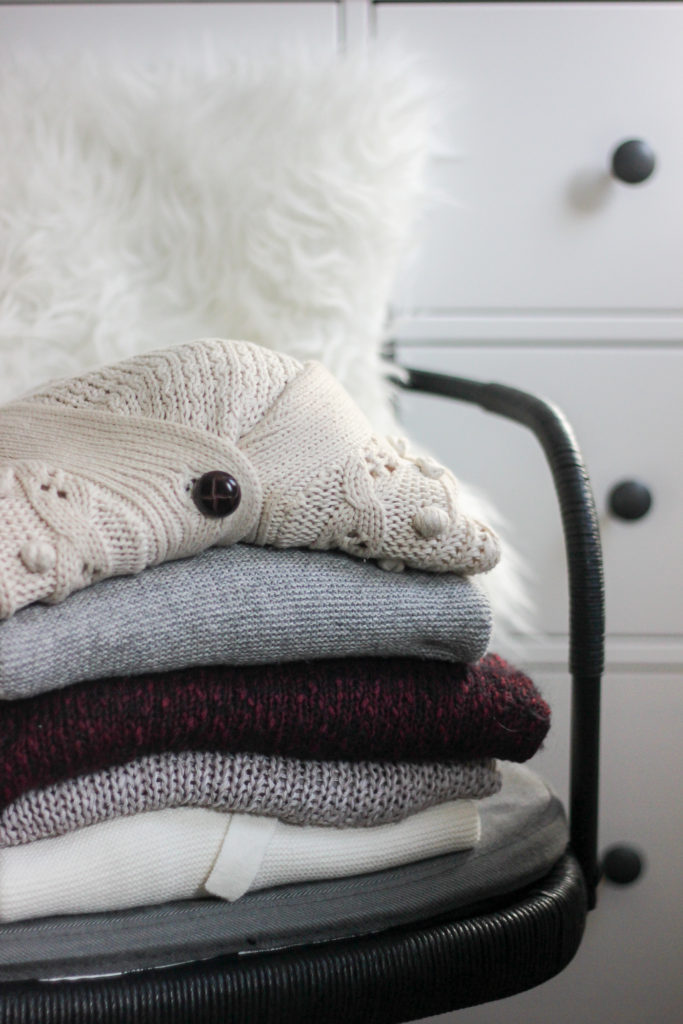 Get your closet cleaned for spring by putting away thick winter sweaters
