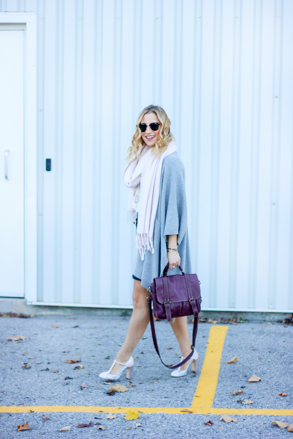 fall-outfit-denim-skirt-poncho-sweater7